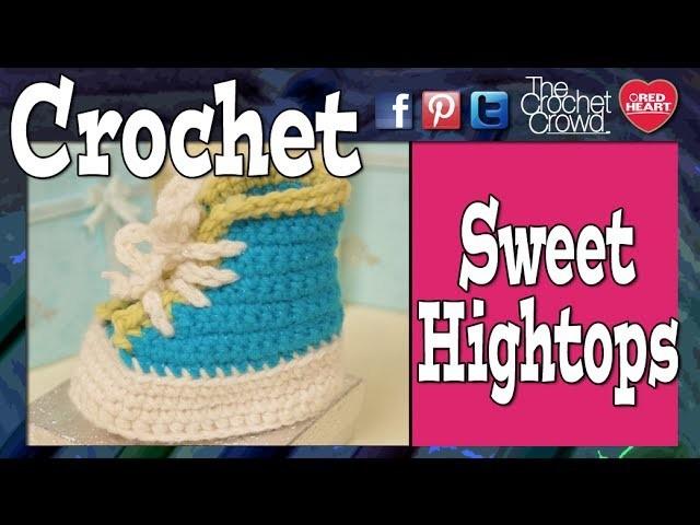 Sweet Crochet High Top Baby Booties: Newborn - 4 Years Old