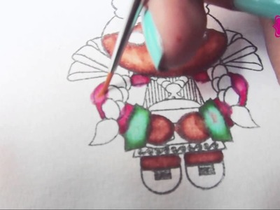 Técnicas de coloreado 3- Rotuladores y alcohol- Scrapbook