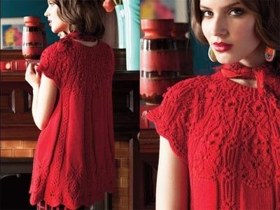 #10 Round Yoke Tunic, Vogue Knitting Winter 2012.13