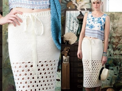 #12 Long Skirt, Vogue Knitting Crochet 2012