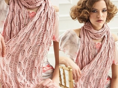 #14 Drop Stitch Scarf, Vogue Knitting Spring.Summer 2012