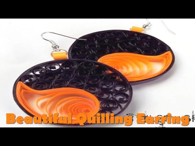 Art & Craft: How to make Quilling Earrings Paper Quilling Art -Quilling Made Easy