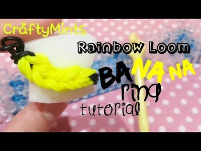 Banana Ring tutorial {RainbowLoom||CraftyMints}