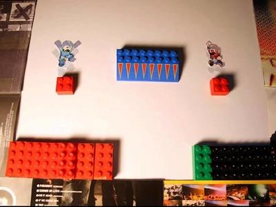Best Cutout Stop Motion Video: Megaman vs Mario
