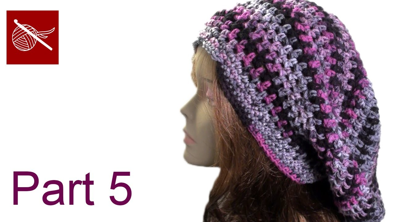 Bob Marley Crochet Slouch Hat Part 5