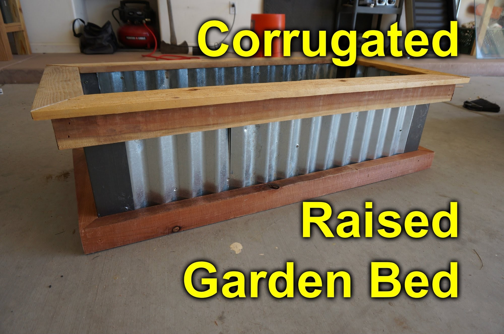 Corrugated raised garden bed - DIY Easy build project to beautify you garden