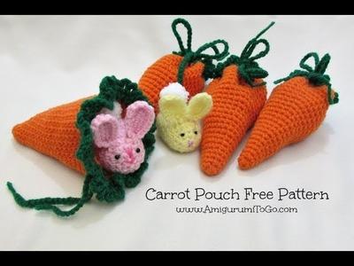 Crochet Along Carrot Pouch
