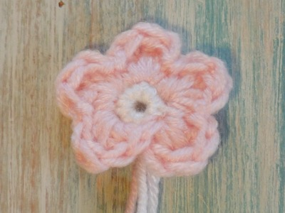 (crochet) How To Crochet a Simple Flower version 1 (re-make) - Absolute Beginners
