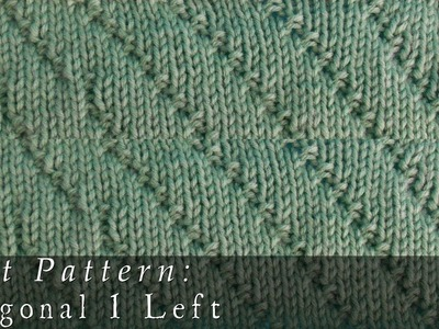 Diagonal 1 Left  |  Knit Pattern
