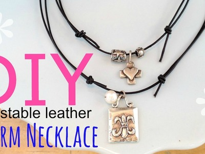 DIY Adjustable Charm Necklace (EASY) | by Michele Baratta