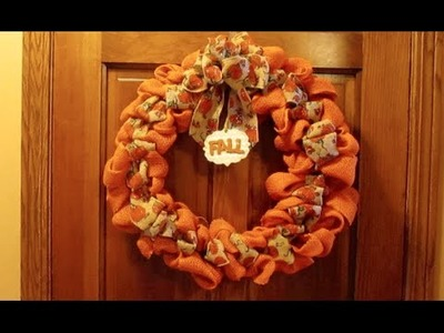 DIY: Burlap Wreath Tips & Fall Wreath Tutorial!
