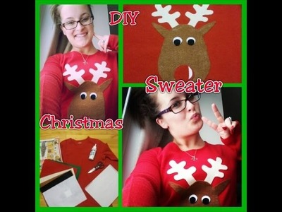 DIY Christmas: Ugly Christmas Sweater. Cute Reindeer Shirt