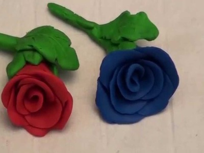 DIY Clay Rose Flower making - JK Arts 008