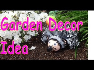 DIY Crafts: Hedgehog Garden Decor from Recycled Plastic Bottles
