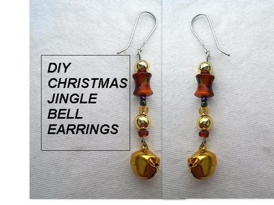 DIY - JINGLE BELL EARRINGS - Jewelry Making - quick and easy