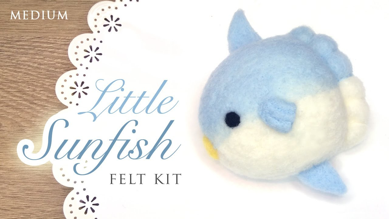 DIY Kawaii Sunfish - ASMR Needlefelting Tutorial