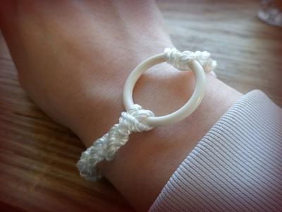 "DIY ""O"" Ring Macrame Bracelet | eclecticdesigns"