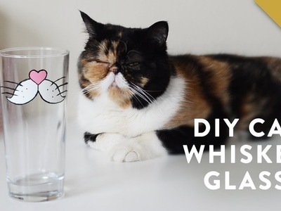 DIY Painted Cat Whisker Glass with Pudge