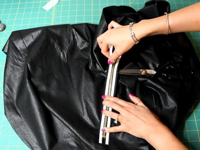 DIY Pleather Circle Skirt