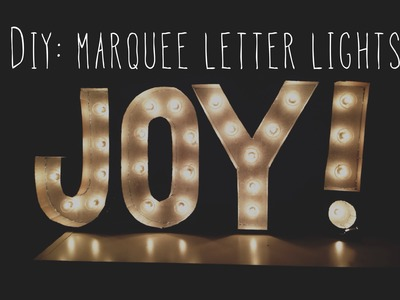 DIY: Room Decor Marquee Letter Lights