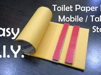 DIY - Toilet Paper Roll Mobile & Tablet Stand