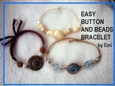 EASY BUTTON AND BEADS BRACELETS, kid crafts, summer camp, group crafts