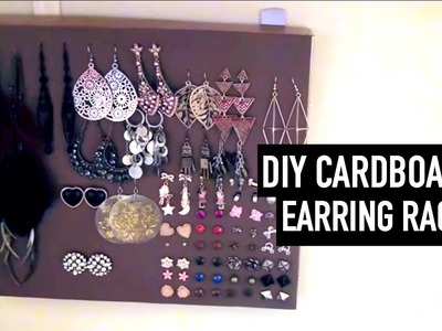 Easy DIY Earring Rack | Cardboard.At-home Materials