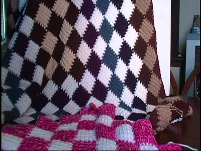 Entrelac Crochet Blanket Introduction