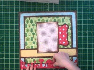 Faith Abigail Designs - Mushroom House Single Scrapbook Layout Tutorial