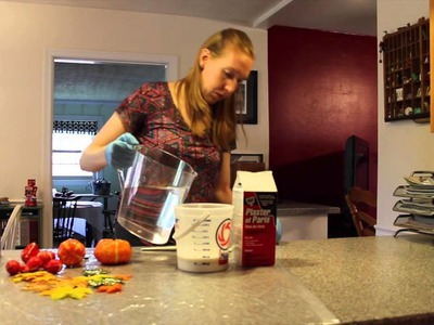 Fall Craft: Plaster of Paris Gourds, Leaves, and Pumpkins