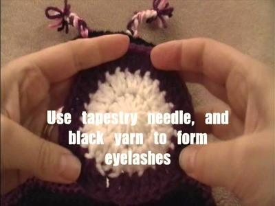 Free pattern - Crochet Sleepy Owl Eyes, Turorial