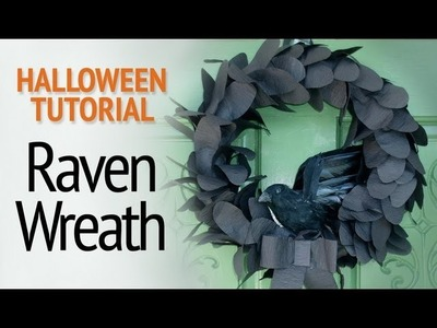 Halloween Tutorial - Raven Wreath (Paper Craft)