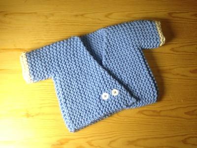 How to Loom Knit a Baby Kimono Sweater (DIY Tutorial)