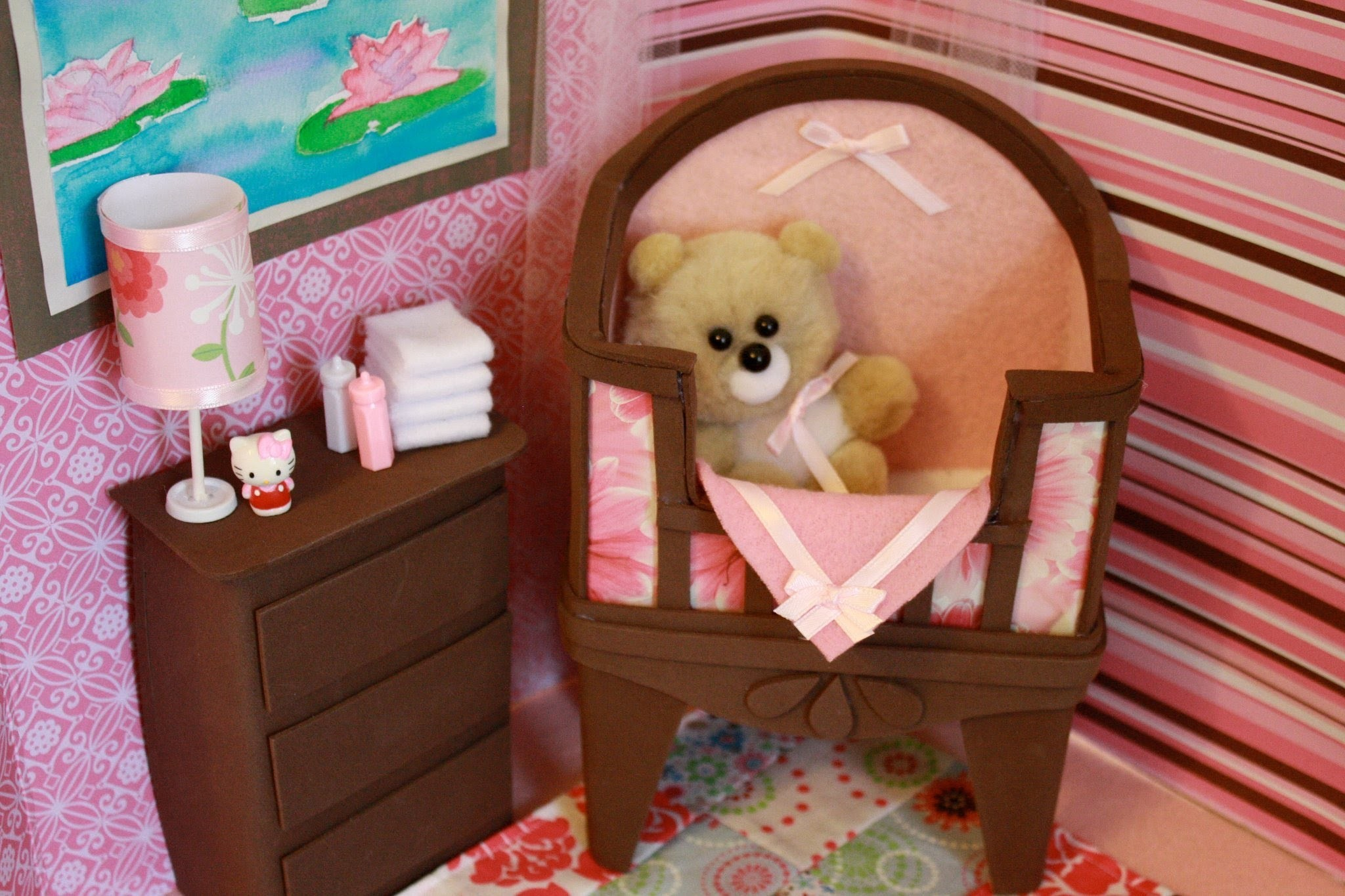 How to Make a Doll Baby Crib with Bonus Easter Project - Doll Crafts