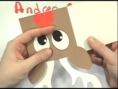 How To Make A Rudolph Gift Card Holder ( Andrea Currie Crafts )