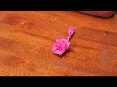 How to Make Crate Paper Roses by Twisting & Spinning : Paper Flower Crafts