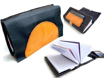 Intro DIY Hand Stitch Leather Writing BOOK & BAG
