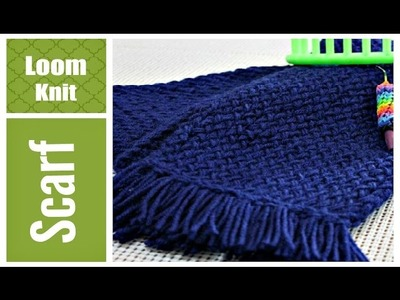 LOOM KNITTING SCARF Easy for Beginners VERY Detailed Round and Long Loom