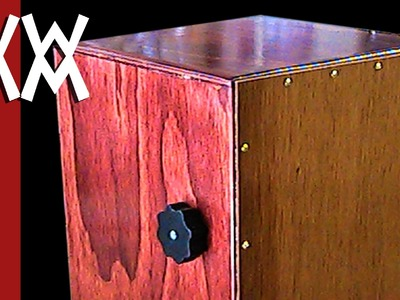 Make a cajon drum with adjustable snare