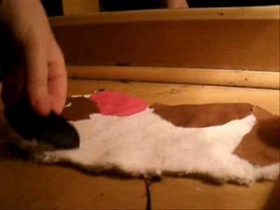 Making a guinea pig shirt craft