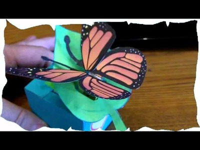 Moving Butterfly - a papercraft insect