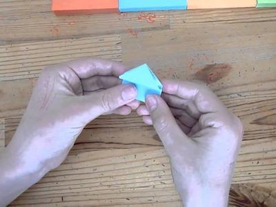 Origami frog(sticky note)