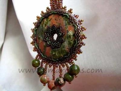 Pendant eva, handmade jewelery by Evgenia kim