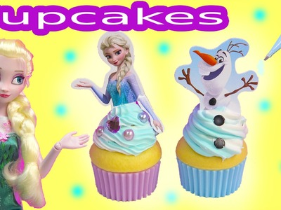 Queen Elsa Disney Frozen Whipple 2 Cupcakes Olaf Snowman Princess Anna Birthday Craft Unboxing
