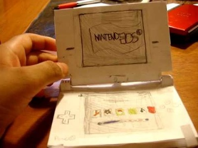 Rebsingh's papercraft Nintendo DSi. Made out of Notecards