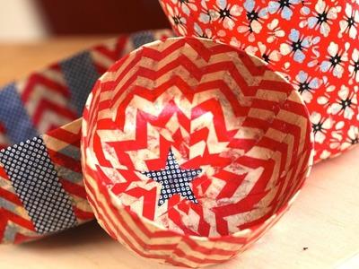 Robert's Patriotic Paper-Mache Bowls