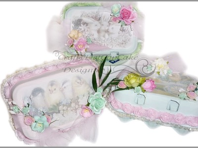 Shabby Chic Easter Gift Boxes - Recycled Egg Boxes