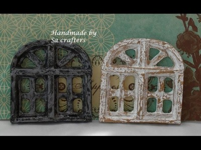 Shabby Chic Window Tutorial part 1