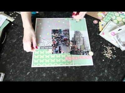 Sketch to Scrapbook Page :: Busy Busy