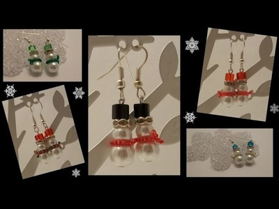 Snowmen Earrings Beading Tutorial by HoneyBeads1
